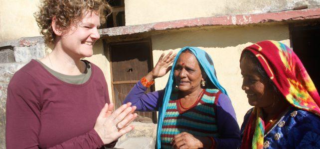Jeanet brengt bezoek aan India