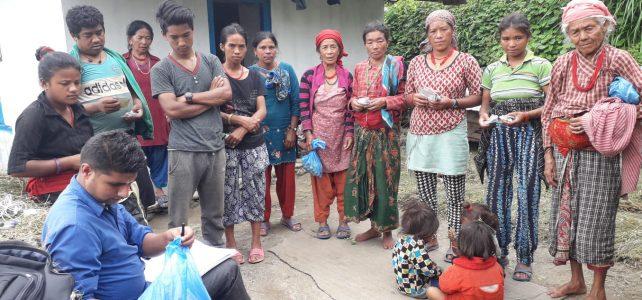 distributing agricultural inputs Bishnu